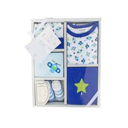 Tendertyme Baby Blue Outfit Gift Set 5pc. - 0-6M