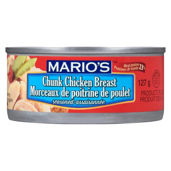 Mario's Chunk Chicken Breast Seasoned - 127g
