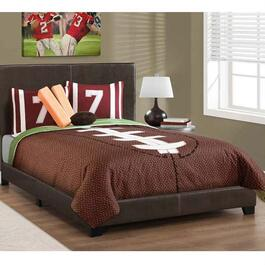 Monarch Specialties Dark Brown Bed Frame - Double