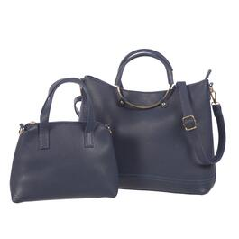Nicci Navy Tote Bag with Crossbody Set - 2pc.