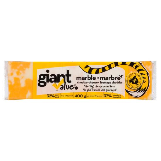 Giant Value Marble Cheddar Cheese - 400g
