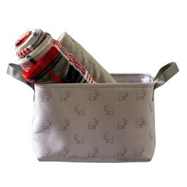 HomeStyles Grey Deer Print Medium Basket