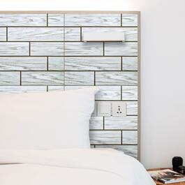 Truu Design 3D Grey Woodgrain Wall Tiles - 6pk.