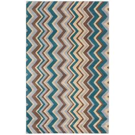 ecarpetgallery Handmade Light Yellow Zig Zag Rug - 8ft.