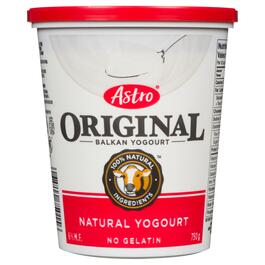 Astro Original Natural Balkan Yogurt 6% M.F. - 750g