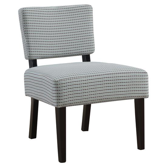 Monarch Specialties Light Blue and Grey Accent Chair
