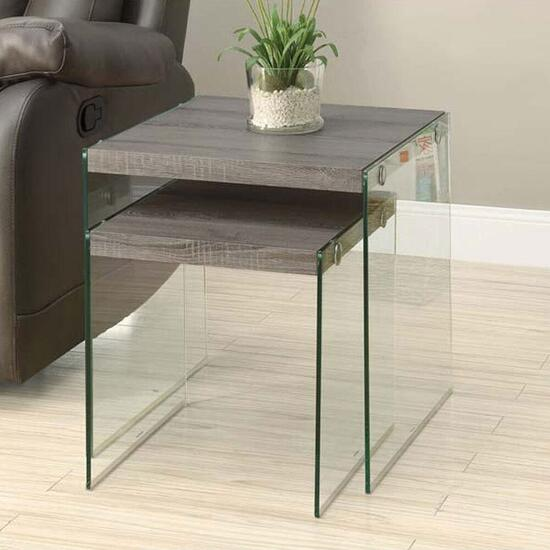Monarch Specialties Taupe Nesting Tables - 2pc.