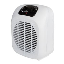 White Personal Fan and Heater - 11in.