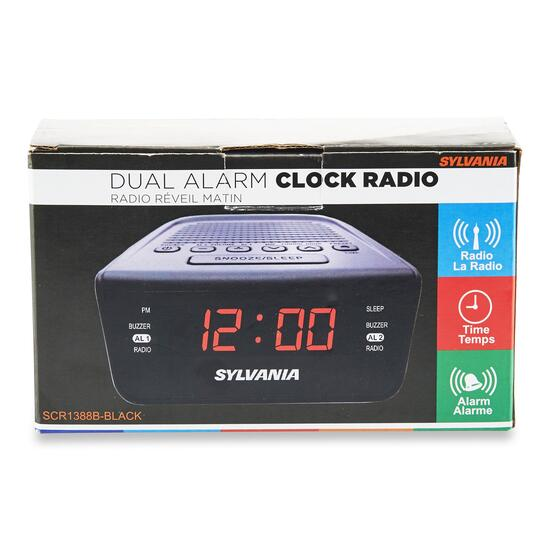 Digital Alarm Clock with AM/FM Radio