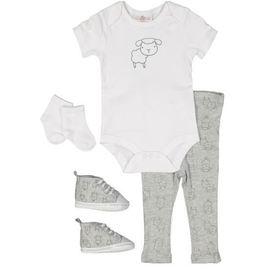 Lily & Jack Unisex Sheep Set 4pc. - 0-12M