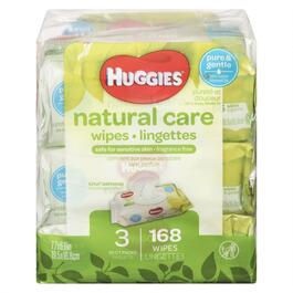 Huggies Natural Care Wipes - 3pk.