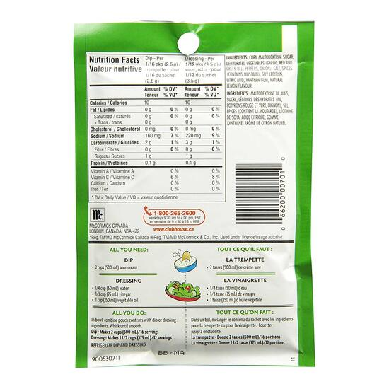 Club House Italian Dressing and Dip Mix - 42g