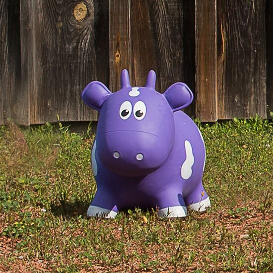 Farm Hoppers Inflatable Cow Bouncer - Purple