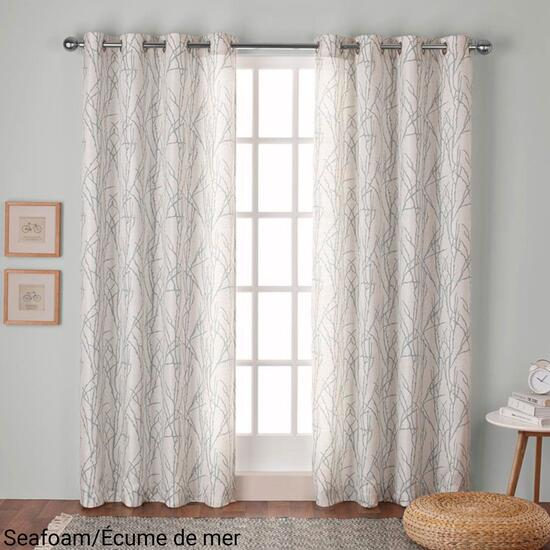 Exclusive Home Branches Linen Blend Curtain Panel 2pc. - 84in.