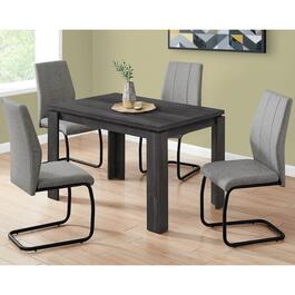 Monarch Specialties Reclaimed Wood Black Dining Table - 48 in.