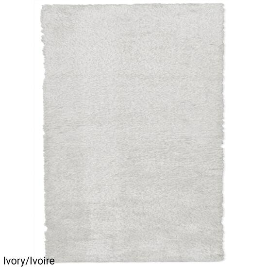 eCarpetGallery New Zealand Ivory Faux Fur Plush Accent Rug