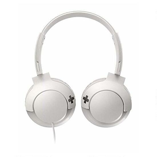 Philips BASS+ White On-Ear Headphones