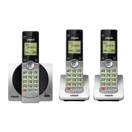 VTech 3-Handset DECT 6.0 Cordless Phones with Caller ID/Call Waiting - Silver