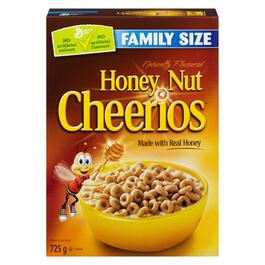 Honey Nut Cheerios Cereal Family Size - 725g