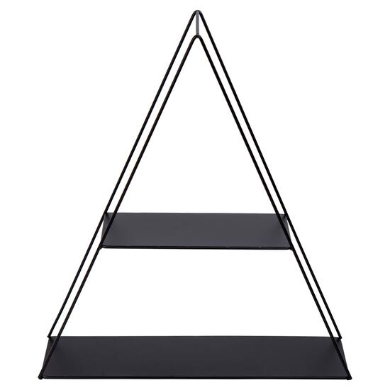 Truu Design Black Decorative Triangle Wall Shelf - 16in.