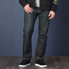 Signature by Levi Strauss & Co.™ Men's Regular Fit Blue/Black Jeans