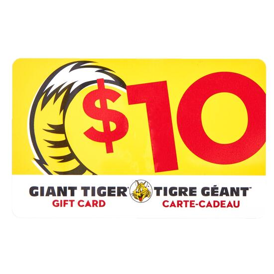 Giant Tiger Gift Card - $10
