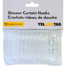 YellowTag Clear Shower Curtain Hook - 12pk.