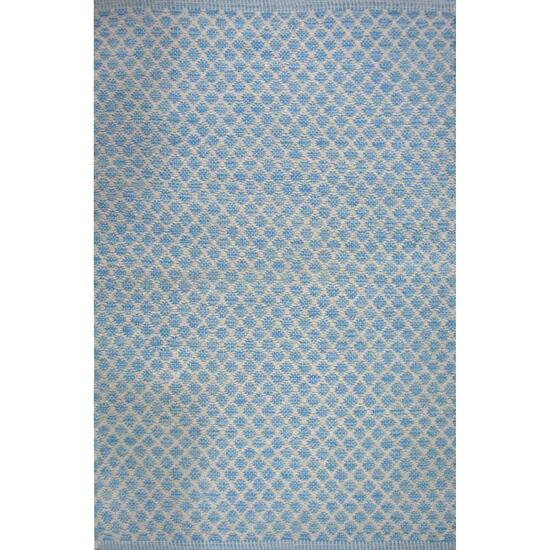 Avocado Décor River Blue Dhurrie Maywood Rug - 2.3ft. x 7.9ft.
