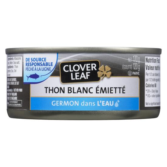 Clover Leaf Flaked White Tuna Albacore in Water - 170g