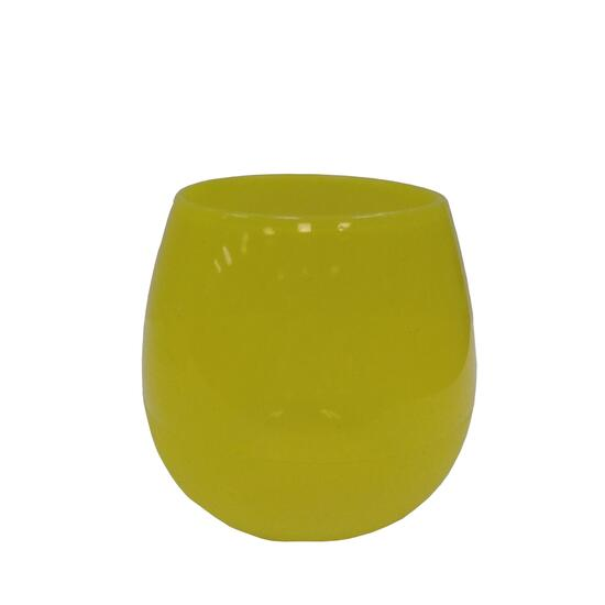 Silicone Zone Yellow Drink Up Glasses - 4pk.