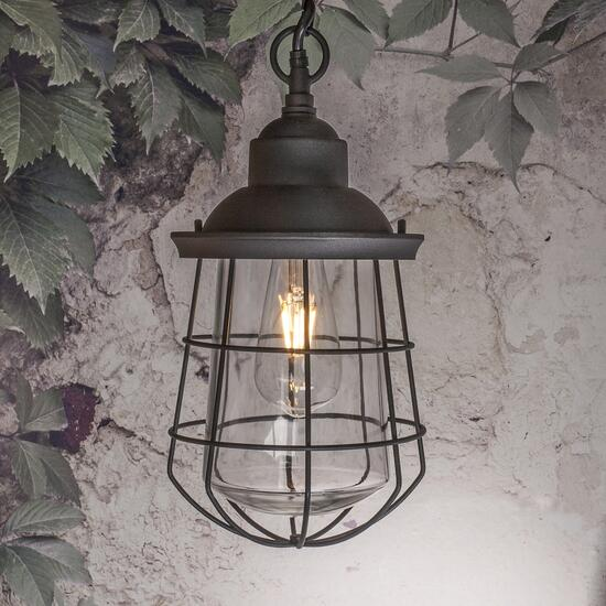 Paradise LED Outdoor Black Pendant Light