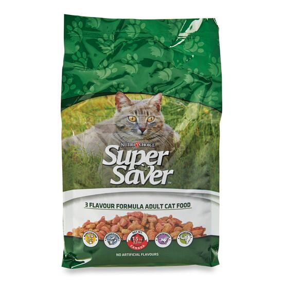 Super Saver Three Flavour Dry Cat Food