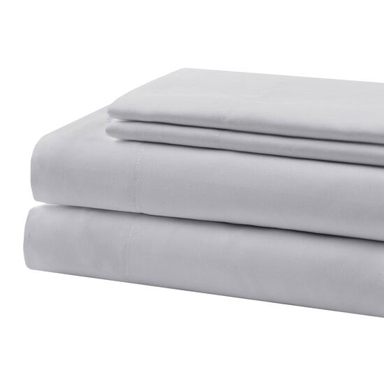 Beauty Rest Light Grey Queen Sheet Set - 4pc.