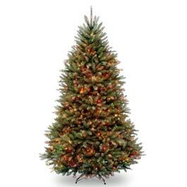 Dunhill® Fir Hinged Tree with 650 Multi-Coloured Lights - 6.5ft.