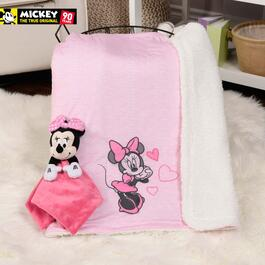 Disney Minnie Jersey Applique Blanket and Baby Buddy