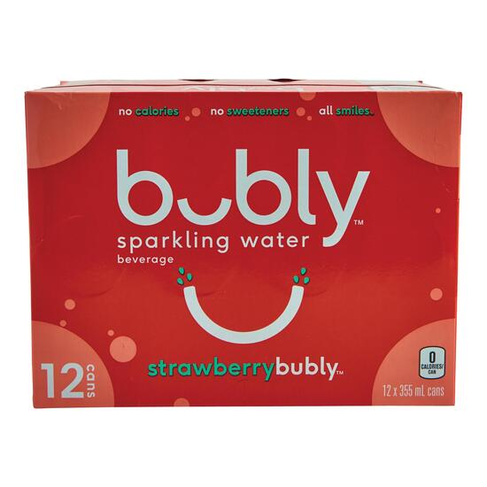 Bubly Strawberry Sparkling Water 12pk. - 355ml