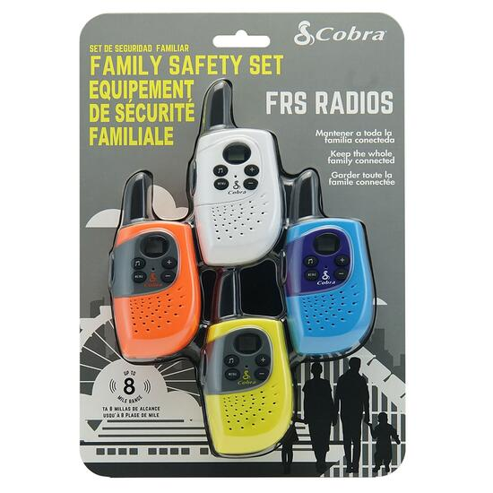 Cobra Family 2-Way Radio with 12km Range - 4pk.