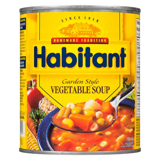 Habitant Ready to Serve Soup Garden Style Vegetable - 796ml