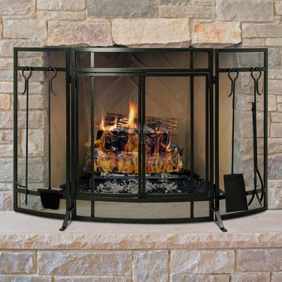 Pleasant Hearth Curved Screen with Tools