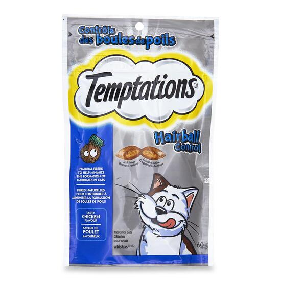 Whiskas Temptations Hairball Control Cat Treats - 60g