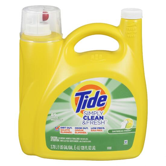 Tide Simply Clean and Fresh Daybreak Fresh Liquid Laundry Detergent - 3.7L