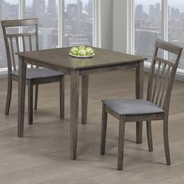 Titus Solid Wood and Wood Veneers Dining Table Seats - 2pc.
