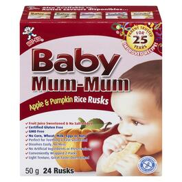 Apple Baby Mum-Mum Rice Rusks - 50g