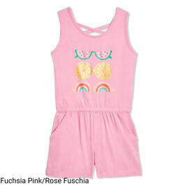 MONKEY BARS Girls Graphic Romper - 2-6X