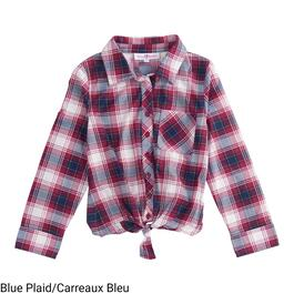MONKEY BARS Girl's Tie-Front Plaid Shirt - 2-6X