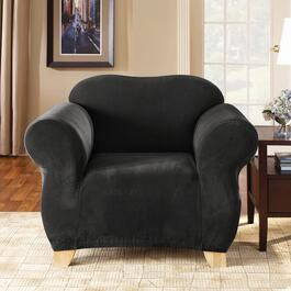 Sure Fit Stretch Piqué - Black Slipcover for Chair - 1pc.