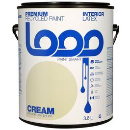 Loop Cream Interior Latex Premium Recycled Paint - 3.8L