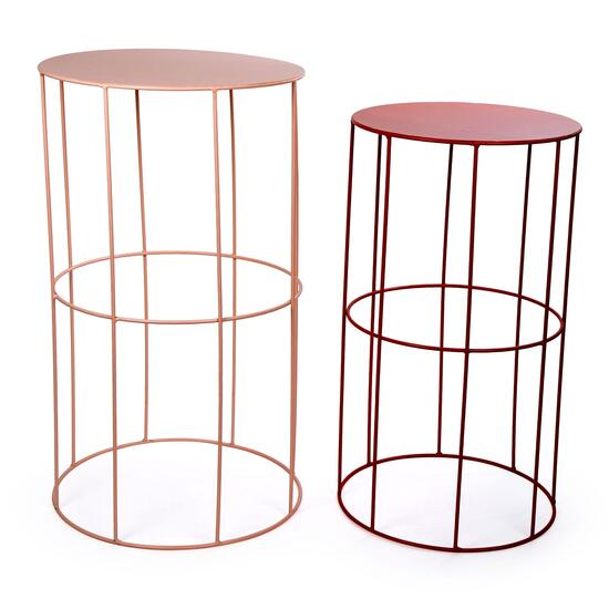 Truu Design Decorative Round Modern Nesting End Coffee Tables - 2pc.