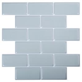 Truu Design Light Blue Self-Adhesive Peel and Stick 3D Wall Tiles - 6pk.