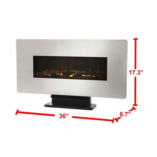 Wall Mount Electric Fireplace - 36in.